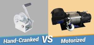 Hand-Crank vs Motorized Winch