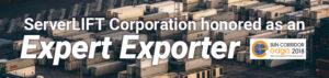 """ServerLIFT onorato come """"Esportatore esperto"""" da Sun Corridor EDGE"""