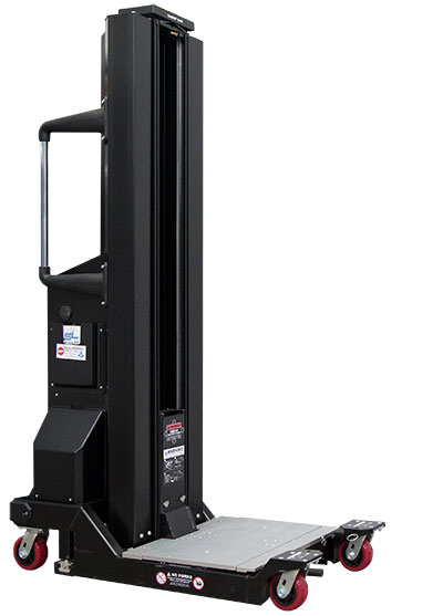 Super-Duty Lift electronically lifts servers up to 1,000lbs.
