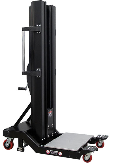 lifts servers up to 1,000lbs. manually with a hand crank