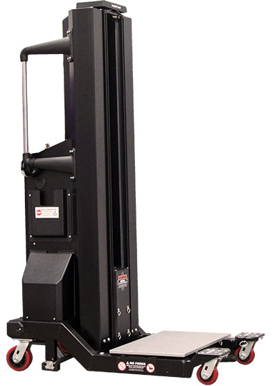 motorized side-loading lift up to 500 lbs. capacity