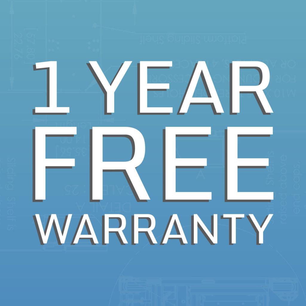 1 Jahr kostenlose Garantie
