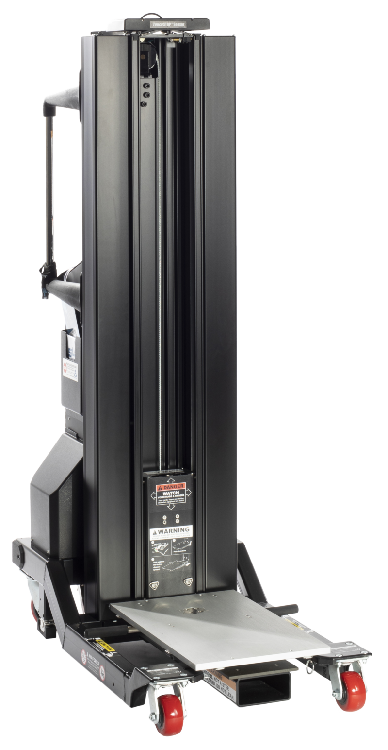 electric front-loading data center lift  up to 500 lbs.