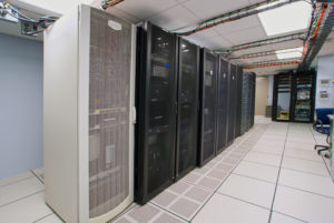 modern interior of a server room