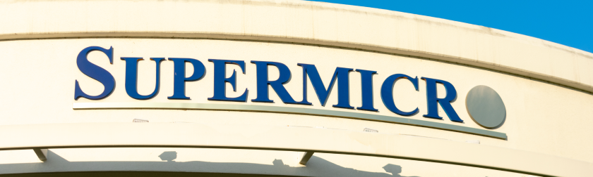 Supermicro sign on the side of one of their buildings