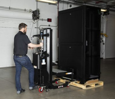 PL-500X platform extension remove rack from pallet